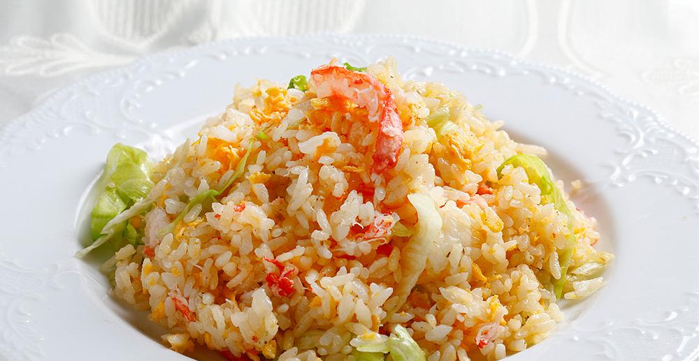カニレタスチャーハン:慶家菜