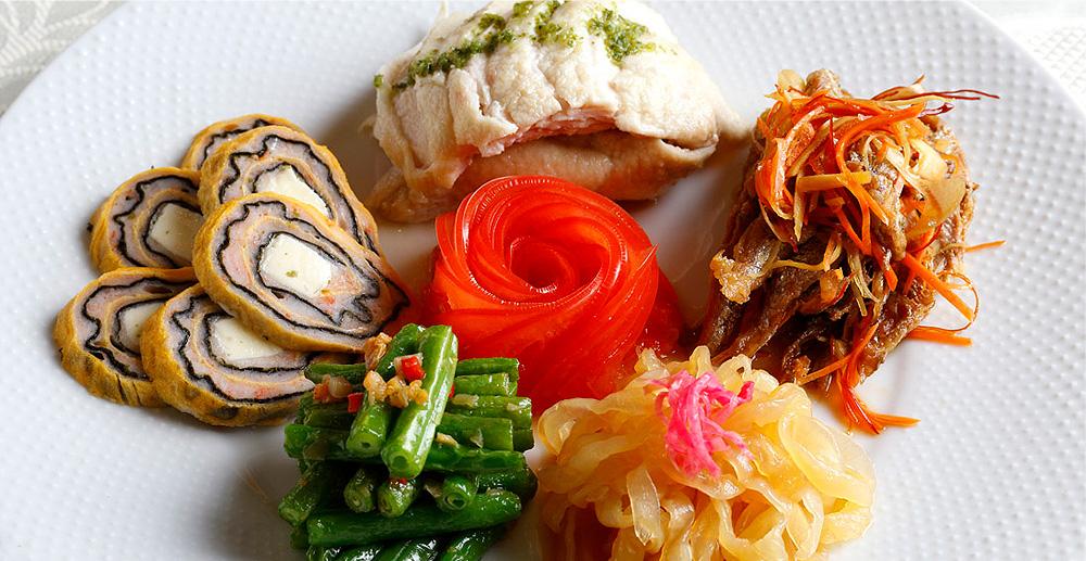 5種前菜の盛り合わせ:慶家菜