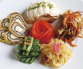 5種前菜の盛り合わせ
